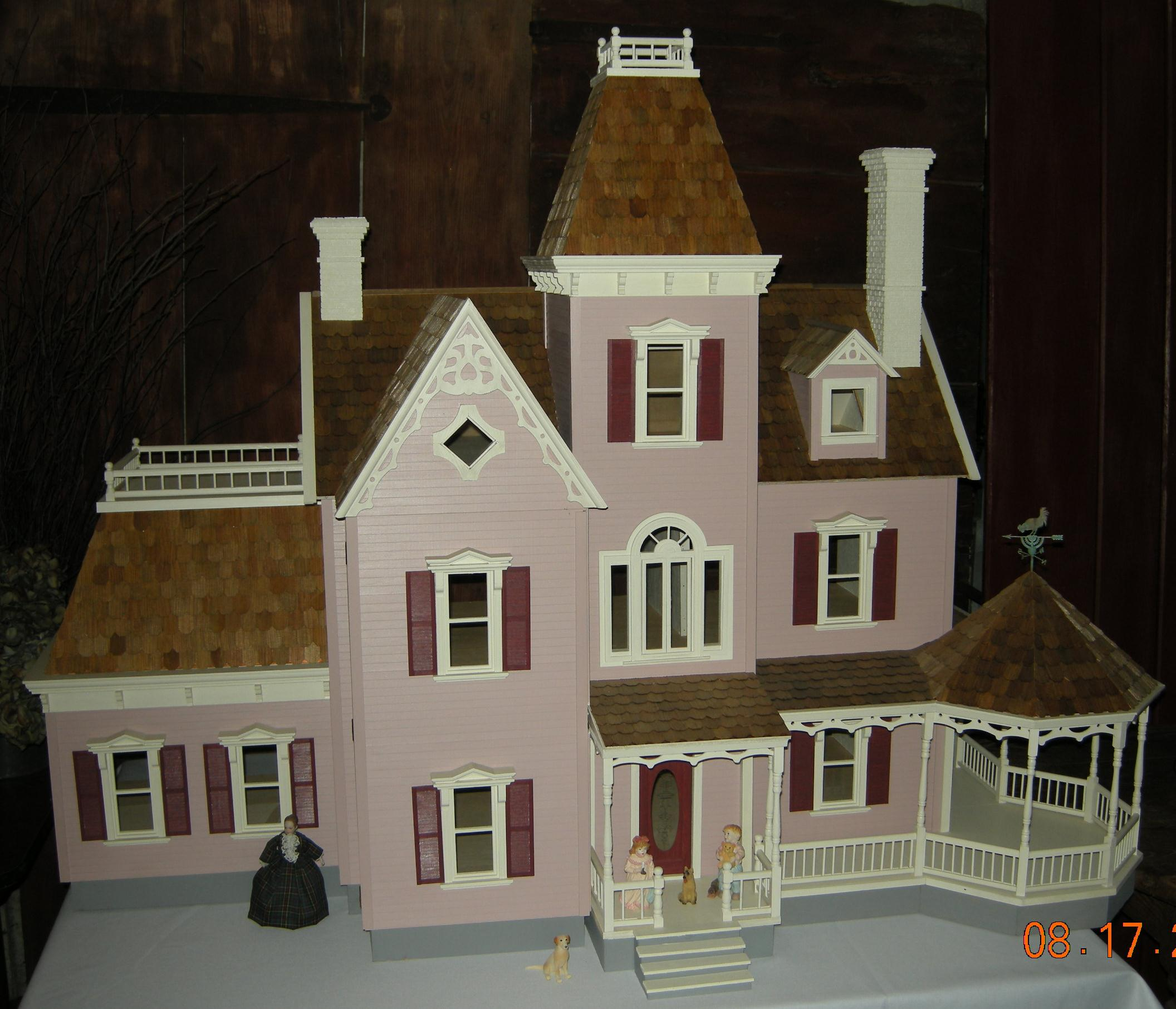 Finished Dollhouses Dollhouse Mansions Electrical Wiring Rosedawn1 Chateau Bostonian Hiho1w Sterling Estate Custom